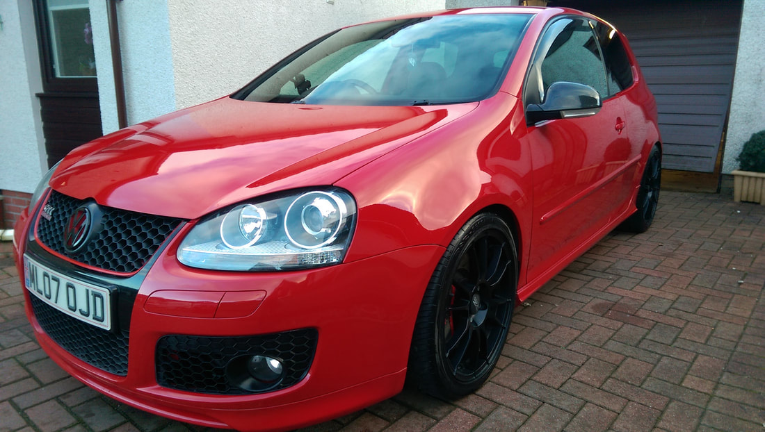 Car Detailing Glasgow, Volkswagen Golf GTi after our Exterior Protection Detail.