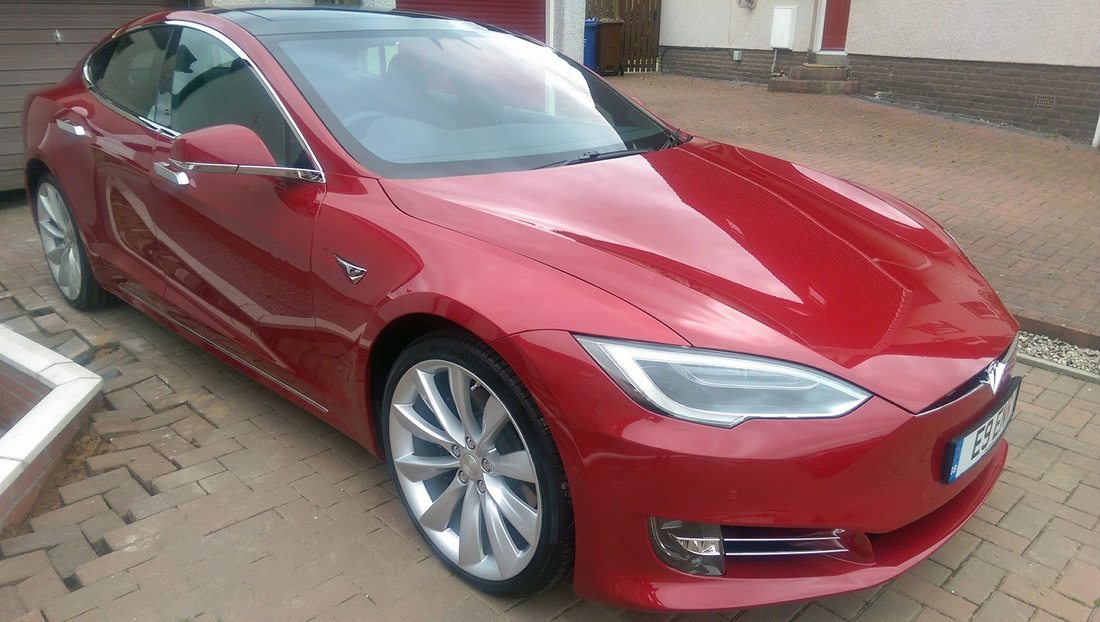 New Car Protection Package carried out on this Tesla near Glasgow