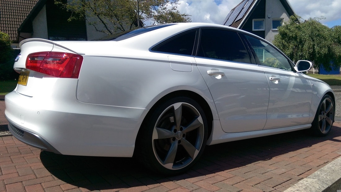 Audi A6 after our Stage 1 Paint Correction package near Paisley